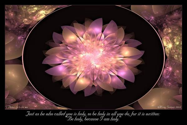 Digital Art - Be Holy by Missy Gainer