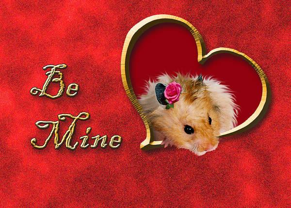 Golden Hamster Photograph - Be Mine Hamster by Jeanette K