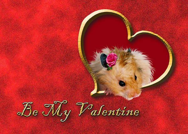 Golden Hamster Photograph - Be My Valentine Hamster by Jeanette K