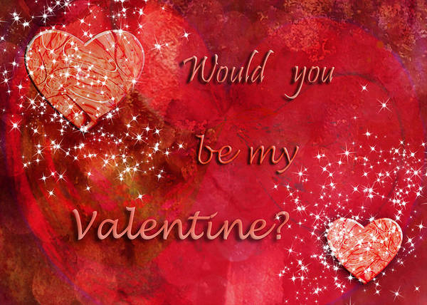 Love Wall Art - Digital Art - Be My Valentine by Paula Ayers