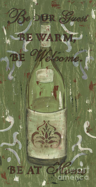 Label Painting - Be Our Guest by Debbie DeWitt