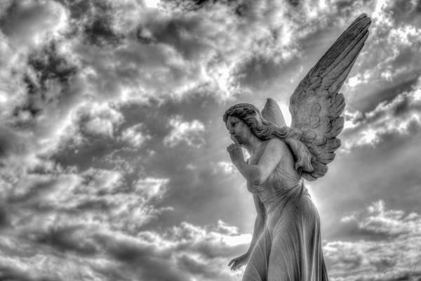 Cementery Photograph - Be Silent by Andres Leon