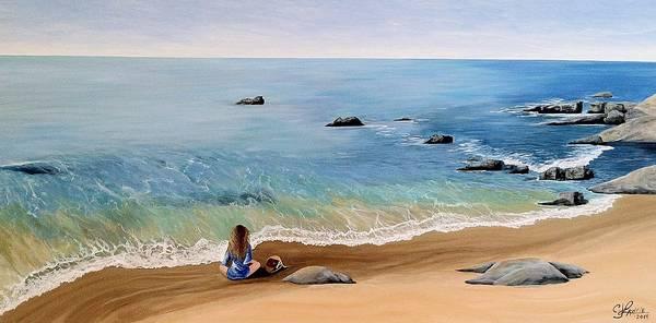Laguna Beach Painting - Be Still by Connie Lawrie