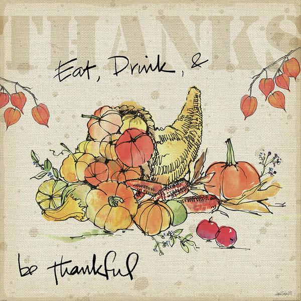 Thanksgiving Wall Art - Painting - Be Thankful IIi by Anne Tavoletti