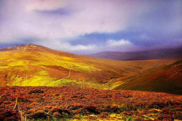Photograph - Be There The Light. Wicklow Hills by Jenny Rainbow
