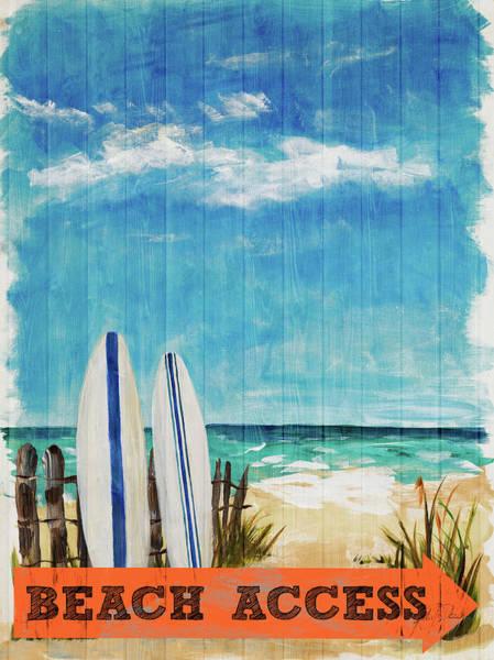 Coastal Digital Art - Beach Access by Julie Derice