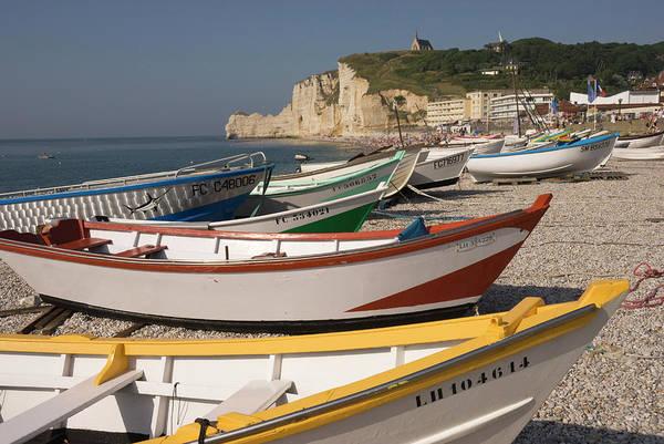 Etretat Photograph - Beach And Boats by John Elk