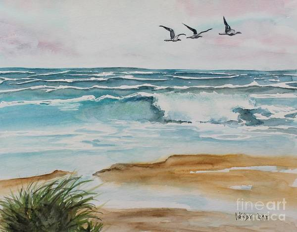 Beach And Waves Art Print