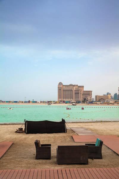 Armchair Photograph - Beach At Katara Cultural Village by Jane Sweeney