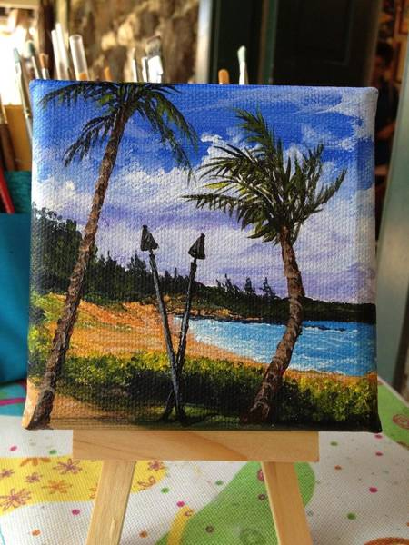 Painting - Beach At The Ritz by Darice Machel McGuire
