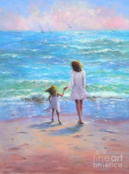 Impressionistic Sailboats Painting - Beach Babes by Vickie Wade