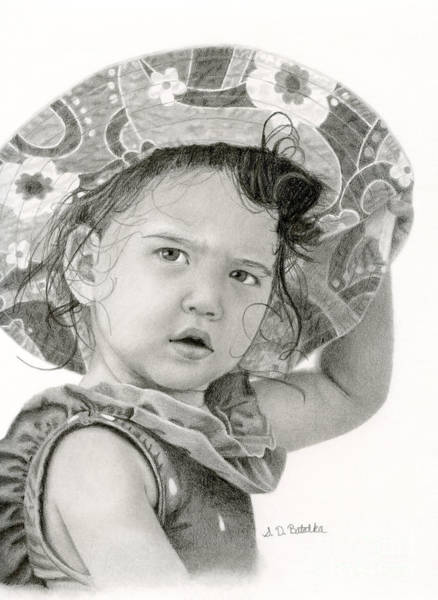Summer Drawing - Beach Baby by Sarah Batalka