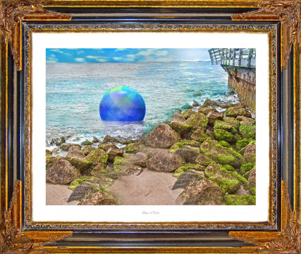 Playful Digital Art - Beach Ball Dreamland by Betsy Knapp