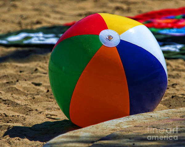 Photograph - Beach Ball In Catalina By Diana Sainz by Diana Raquel Sainz