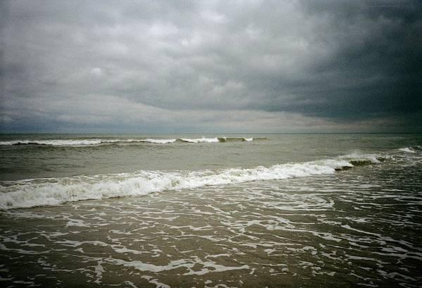 Beach Before The Storm Art Print