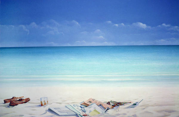 Wall Art - Painting - Beach Broker by Lincoln Seligman