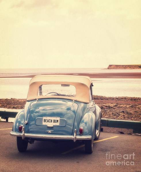 Parking Photograph - Beach Bum by Edward Fielding
