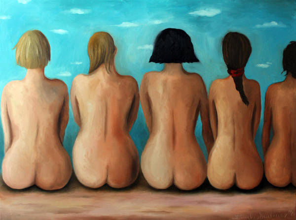 Painting - Beach Bums Edit 2 by Leah Saulnier The Painting Maniac