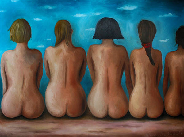 Painting - Beach Bums Edit 3 by Leah Saulnier The Painting Maniac