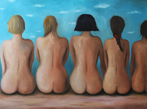 Painting - Beach Bums by Leah Saulnier The Painting Maniac