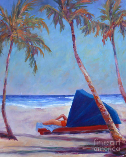 Painting - Beach Cabana by Carolyn Jarvis