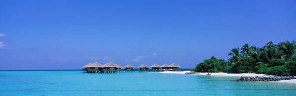 Sunbather Photograph - Beach Cabanas, Baros, Maldives by Panoramic Images