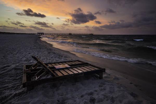Digital Art - Beach Chair Sunrise by Michael Thomas