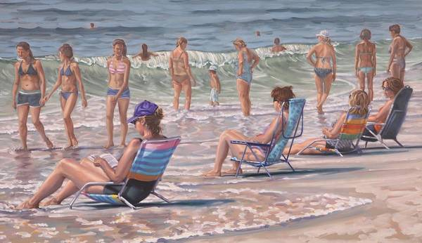 Painting - Beach Chairs by Gary M Long