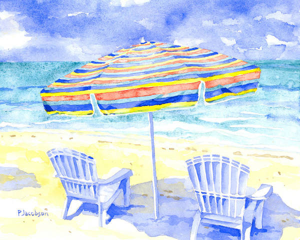 Painting - Beach Chairs by Pauline Walsh Jacobson
