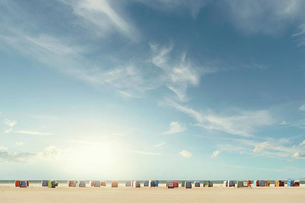 High Tide Photograph - Beach Chairs by Ppampicture