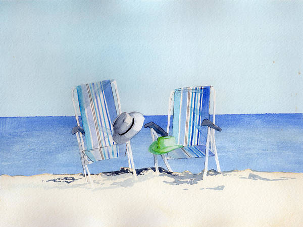 Painting - Beach Chairs by Sean Parnell