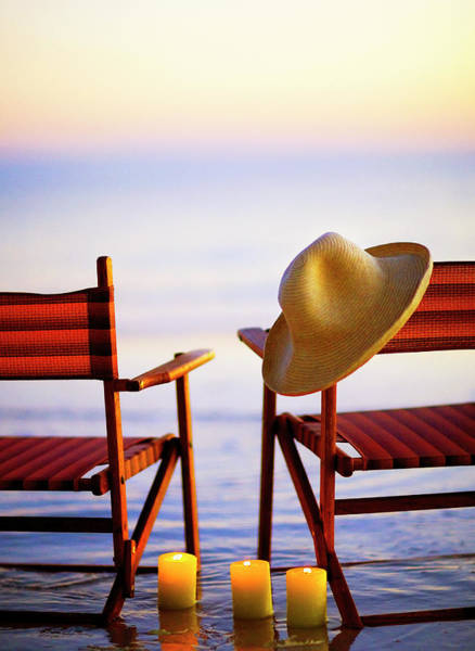 Sun Hat Photograph - Beach Chairs by Stevecoleimages