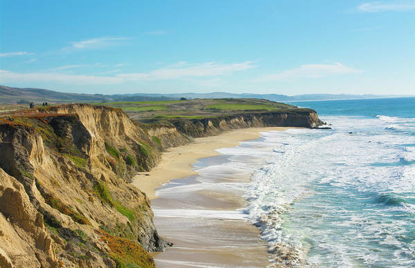 Wall Art - Photograph - Beach Cliffs Of Half Moon Bay by Bill Bachmann