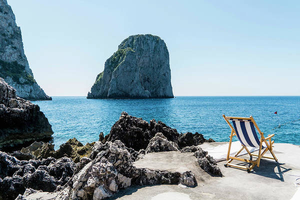 Horizontal Landscape Photograph - Beach Club La Fontanella, Capri by Arnt Haug / Look-foto