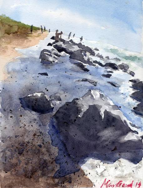 Wall Art - Painting - Beach Combers by Max Good