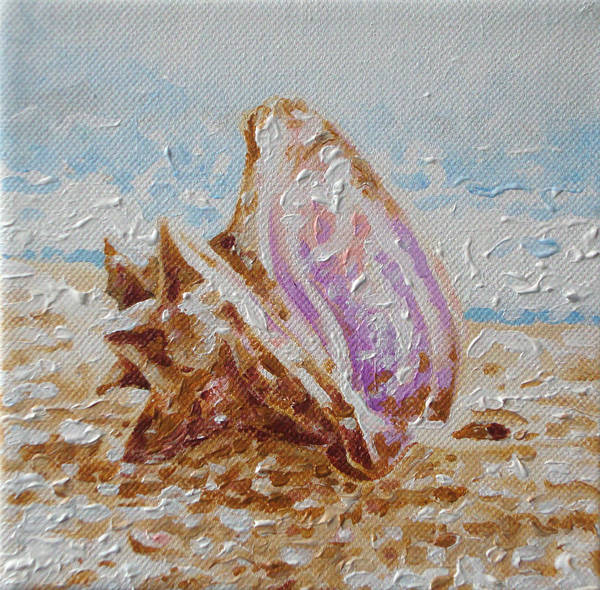 Painting - Beach Conch by William Love