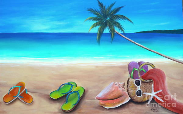 Wall Art - Painting - Beach Day by Gabriela Valencia