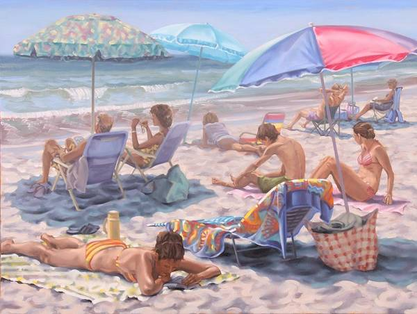 Painting - Beach Days by Gary M Long