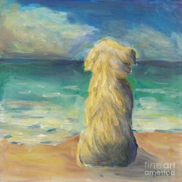 Wall Art - Painting - Beach Dog by Robin Wiesneth
