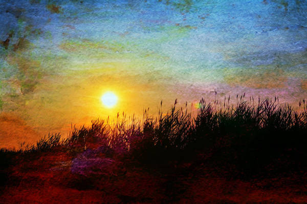 Beachscape Photograph - Beach Dune Sunset by Laura Fasulo