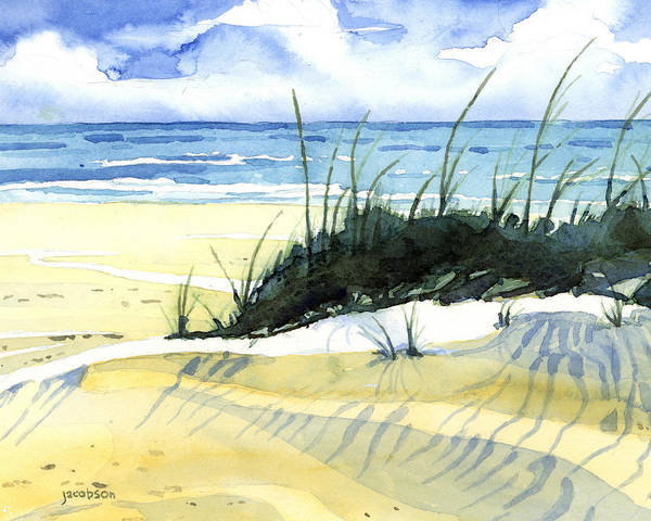 Painting - Beach Dunes by Pauline Walsh Jacobson