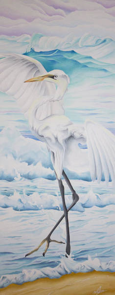 Painting - Beach Egret by William Love