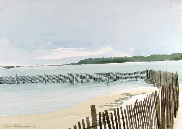 Painting - Beach Fence by Lynn Hansen