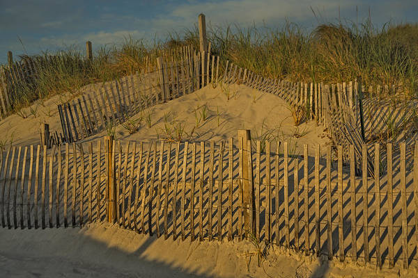Photograph - Beach Fence by Susan Candelario