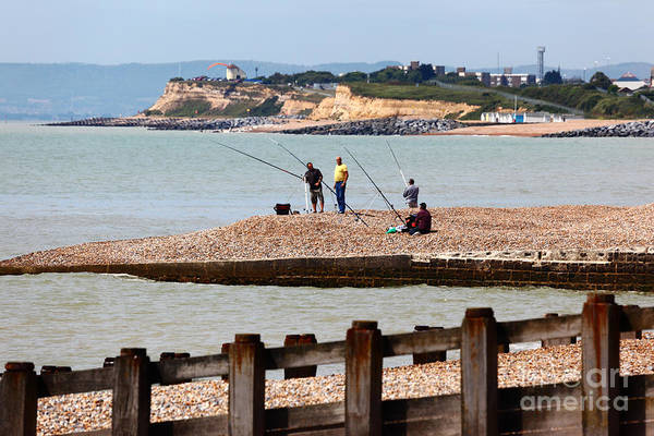 Angling Photograph - Beach Fishing In The English Channel by James Brunker