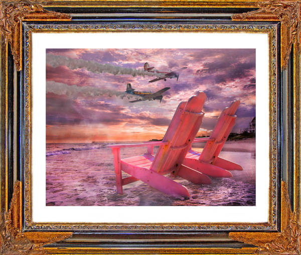Atlantic Digital Art - Beach Flight II  by Betsy Knapp