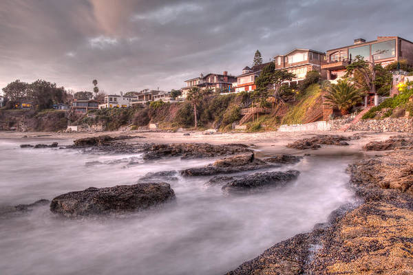 Photograph - Beach Front Houses At Laguna Beach by Cliff Wassmann