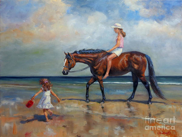 Wall Art - Painting - Beach Girls II by Jeanne Newton Schoborg