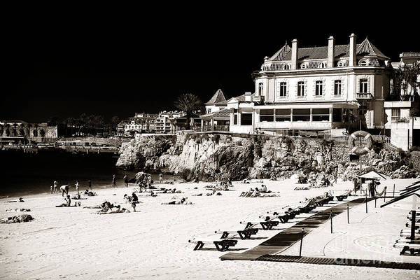 Photograph - Beach Goers In Cascais by John Rizzuto