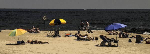 Down The Shore Photograph - Beach Goers by Jim DeLillo